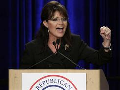 Palin herself: The former GOP nominee for vice president rallies party faithful.