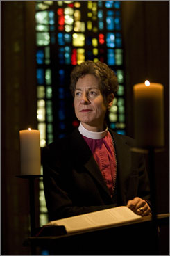 Episcopal Bishop Katharine Jefferts Schori supported the election of the church's first openly gay bishop in 2003.