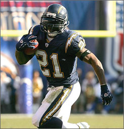 LaDainian Tomlinson's 31 touchdowns carried many fantasy football players to successful seasons in 2006.