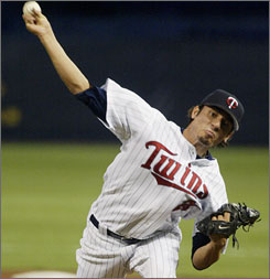 Matt Garza was 14-4 at three minor league levels in 2006; he was 3-5 with the Twins.