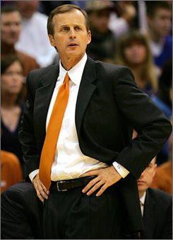 A run to the Elite Eight in 2006 led Texas coach Rick Barnes to a $500,000 raise to a guaranteed $1.8 million. Only Kentucky's Tubby Smith is known to have a larger guarantee among the coaches in last year's tournament.