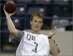 John Beck is impressing NFL scouts and may become the third quarterback chosen in the NFL draft after JaMarcus Russell and Brady Quinn.