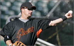 Giants first baseman Mark Sweeney refused to let reports that Barry Bonds named him as his source for amphetamines fester or affect clubhouse chemistry.