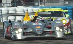 Allan McNish pilots the winning Audi R10 entry in last year's 12-hour race at Sebring.