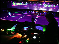 """Night tennis"" is one of the features at this week's Sony Ericsson Open."