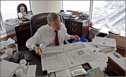 Every morning, Bud Selig peruses a bevy of newspapers and faxes in his Milwaukee office. The commissioner's routines are legendary among his family and friends.