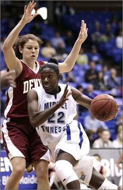 Middle Tennessee's Chrissy Givens hopes to get noticed at the WNBA's predraft camp this week.