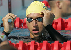 Australia's Ian Thorpe in the pool at the 2004 Athens Summer Games.