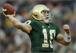 "Says Notre Dame product Brady Quinn, ""I'm the most prepared collegiate player for the NFL in the draft."" But will Oakland, considering him and JaMarcus Russell with the top pick, agree?"