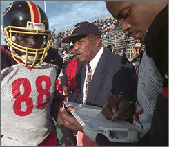 "Legendary Grambling State coach Eddie Robinson died late Tuesday night. ""For the Grambling family this is a very emotional time,"" former player and NFLer Doug Williams said. ""But I'm thinking about Eddie Robinson the man, not in today-time, but in the day and what he meant to me and to so many people."""