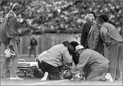 Darryl Stingley was left a quadriplegic after a hit from Oakland's Jack Tatum in a 1978 preseason game.