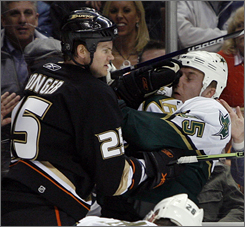 With Chris Pronger on their side of the ice, the Ducks have a physical presence that could pay dividends in the race for the Stanley Cup.