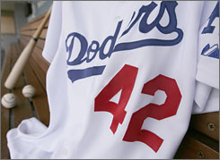 On Sunday, the Los Angeles Dodgers will wear No. 42 in honor of Jackie Robinson.