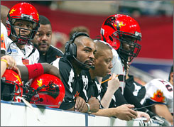 In the inside-the-boards world of Arena football, punting is not allowed.