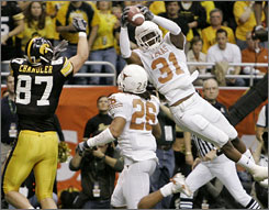 Texas cornerback Aaron Ross is one of a trio of Longhorns defensive backs who could be first-day selections at the NFL draft on April 28.
