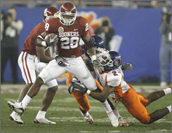 Oklahoma's Adrian Peterson is rated at the top of a running back class that could produce as many as six picks in the first two rounds of the April 28 NFL draft.