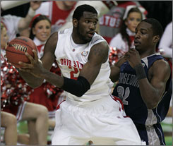 Greg Oden will be playing NBA next year after taking Ohio State to the national title game.