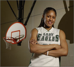 Collins Hill High School's Maya Moore stands tall as the Player of the Year on the 2007 All-USA girls team.