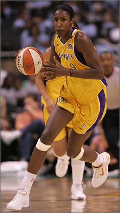 Los Angeles' Lisa Leslie will not play this season because she's expecting the birth of her first child. Leslie, a six-time All Star, led the Sparks to WNBA championships in 2001 and 2002.