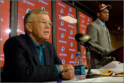 Washington coach Joe Gibbs only had one pick in the first four rounds, but he emerged with top-rated safety LaRon Landry after the team selected at No. 6 in the first round.