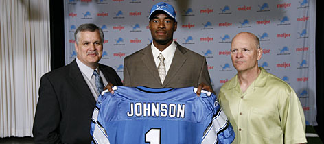 The arrival of No. 2 overall pick Calvin Johnson in Detroit could make the Lions offense prolific in 2007. He is just one more weapon (added to receivers Mike Furrey and Roy Williams) for QB Jon Kitna and offensive coordinator Mike Martz.