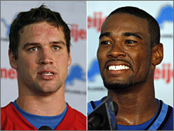 New Lions quarterback Drew Stanton, left, and receiver Calvin Johnson, both selected in last weekend's NFL draft, could be the future of the franchise that has traditionally been one of the league's also-rans.