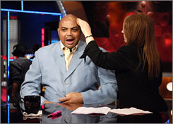 "Barkley is a colorful figure on the TNT set. ""I try to make the game as fun as possible,"" he says. ""I think if we are having fun then I assume that people are enjoying it. That is my barometer."""