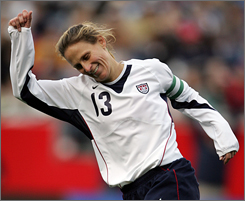 Kristine Lilly, who has 121 career goals, will be one of several stars leading the U.S. team Saturday.