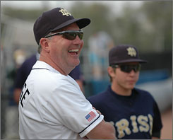 Since the death of his wife, Jody, Dave Schrage must balance leading his Notre Dame baseball team with the parenting of his two daughters.