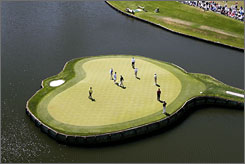 When you talk the Players Championship, you talk the 17th green at TPC Sawgrass in Ponte Vedra Beach, Fla.