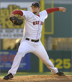 Pitcher Jon Lester  shown pitching for Boston's Triple-A club in Rhode Island  hopes to return to the big-league Red Sox this season. However, the club is proceeding with caution as Lester battles to come back from blood cancer.