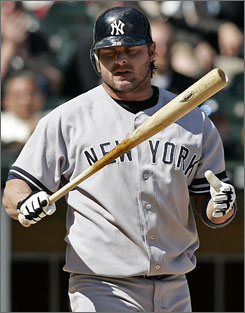 Jason Giambi, shown during New York's game at Chicago on Thursday, believes baseball should have come clean regarding steroid use by players.