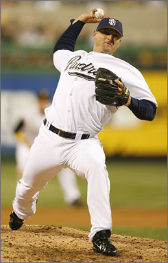 Trevor Hoffman pitches during the 2006 All-Star Game in Pittsburgh. The relief ace has made five National League All-Star teams in a career dating to 1993.