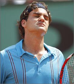 A flustered Roger Federer made 59 unforced errors in the finale.