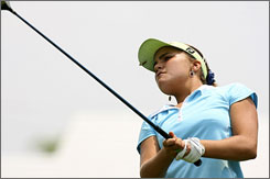 Alexis Thompson plays on May 14 during a U.S. Women's Open sectional qualifier at Imperial Golf Club in Naples, Fla.