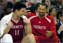 Juwan Howard is leaving Yao Ming to play with Kevin Garnett and the Minnesota Timberwolves after the Rockets dealt him for guard Mike James.