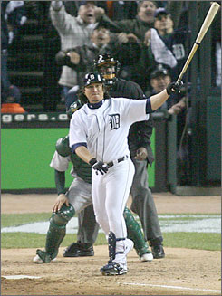 Magglio Ordonez provided one of the greatest moments in Detroit's baseball history when his home run against Oakland last fall gave the Tigers their first American League pennant in 22 years.