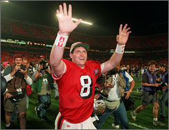 Steve Young reached the pinnacle of his Hall of Fame career when he was named MVP of the 49ers' win over San Diego in Super Bowl XXIX.