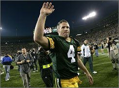 Brett Favre is on the cusp of becoming the all-time leader in touchdown passes and wins by a starting quarterback.