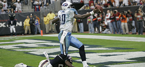 Vince Young went 8-5 as a starter for the Titans in his rookie campaign last year. Now he must embark on his sophomore season with his two leading receivers gone via free agency.