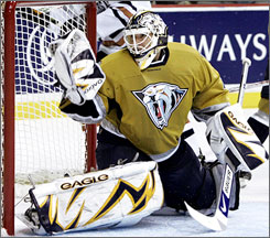 Tomas Vokoun played in only 44 games for Nashville this season because of a hand injury.