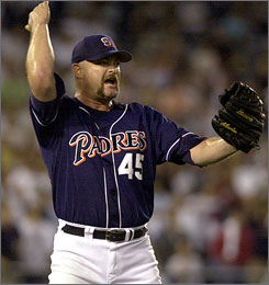 Rod Beck closed out his 13-year major league career by pitching his final two years for the San Diego Padres in 2003-04. He finished with 286 saves, including a career-high 51 with the Cubs in 1998.