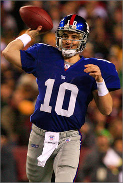 Giants quarterback Eli Manning must prove he can play well on a week-to-week basis. New quarterbacks coach Chris Palmer will work with Manning to cut down on his mistakes.
