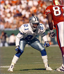 Deion Sanders holds the NFL record for most touchdowns off interceptions and kick/punt returns with 18.