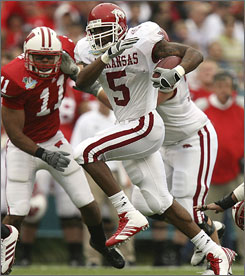 Arkansas running back Darren McFadden will be in the spotlight as the Heisman front-runner this season.