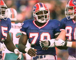 Bruce Smith is first on the NFL's list of all-time sack leaders.