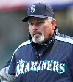 Mike Hargrove managed the Mariners to a record of 191-210 during his 2 1/2 years at the helm.