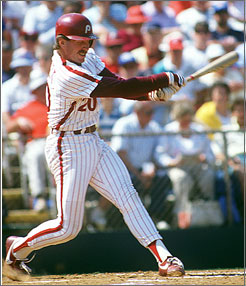 "Mike Schmidt, who hit 548 home runs for the Phillies during his Hall of Fame career, has no desire to discuss the club's losses. ""It says that the team has been around a while and had some bad years,"" the slugging third baseman says."