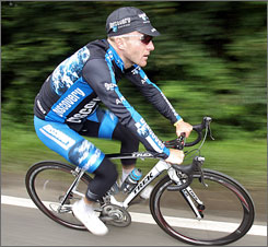 Levi Leipheimer hit the practice trail this week in England, where the Tour de France begins on Saturday.