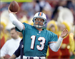 Dan Marino owned or shared 23 NFL passing records when he retired after the 1999 season.